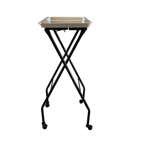 Image of SalonPro Folding Aluminum Rolling Styling Service Tray Styling Trolley SalonPro Equipment
