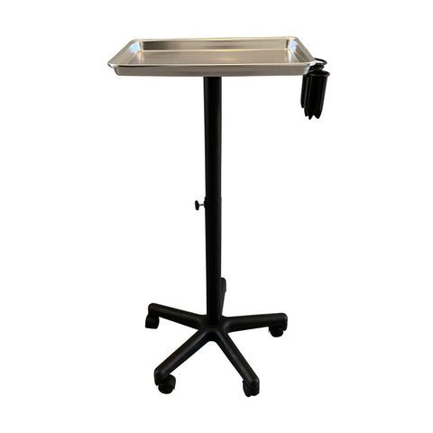 Image of SalonPro Adjustable Aluminum Rolling Styling Cart Trolley w/ Tool Holder Salon Furniture SalonPro Equipment