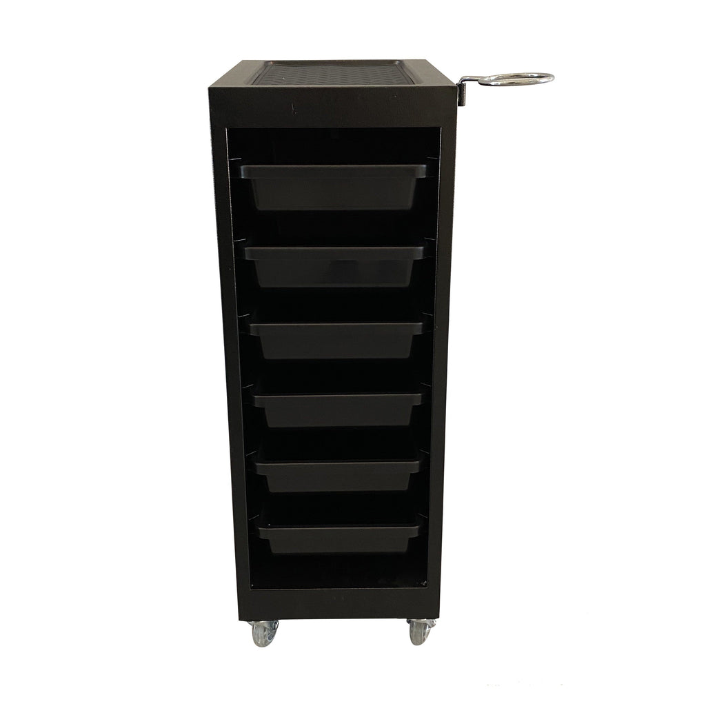 SalonPro 5 Drawer Metal Styling Cabinet Storage & Coloring Trolley w/ Rolling Wheels Styling Trolley SalonPro Equipment