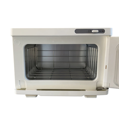 Image of SalonPro UV Mini Towel Warmer Cabinet in White Towel Warmer Cabinet SalonPro Equipment