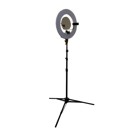 Image of SalonPro LED Adjustable Ring Light for Salon Photography w/ Phone Mount & Mirror Light SalonPro Equipment