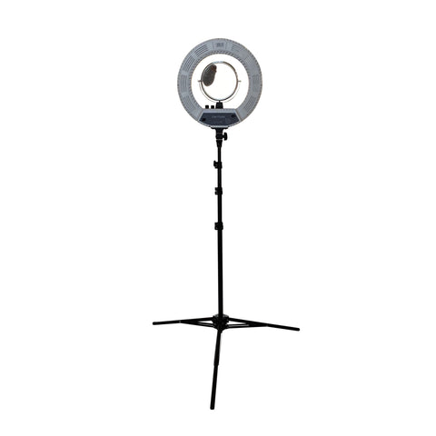 Image of SalonPro LED Adjustable Ring Light for Salon Photography w/ Phone Mount & Mirror Light SalonPro Equipment White (In-Stock)