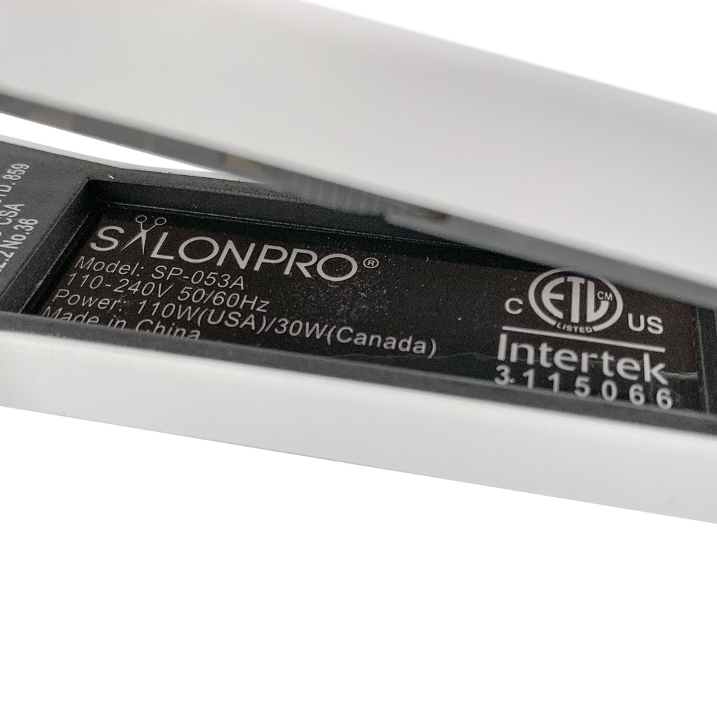 "Professional Hair Straightener Flat Iron - SalonPro SP-053A 1.25"" Hair Straightener SalonPro Equipment"