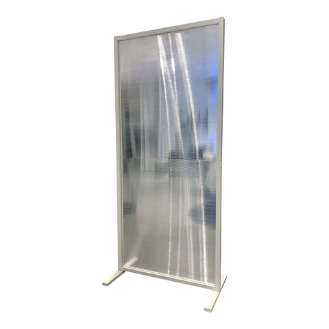 Image of SalonPro 6' x 3' Social Distancing Polycarbonate & Aluminum Privacy Screen Partition Freestanding Divider for COVID-19 Screen Divider SalonPro Equipment White (on Backorder)