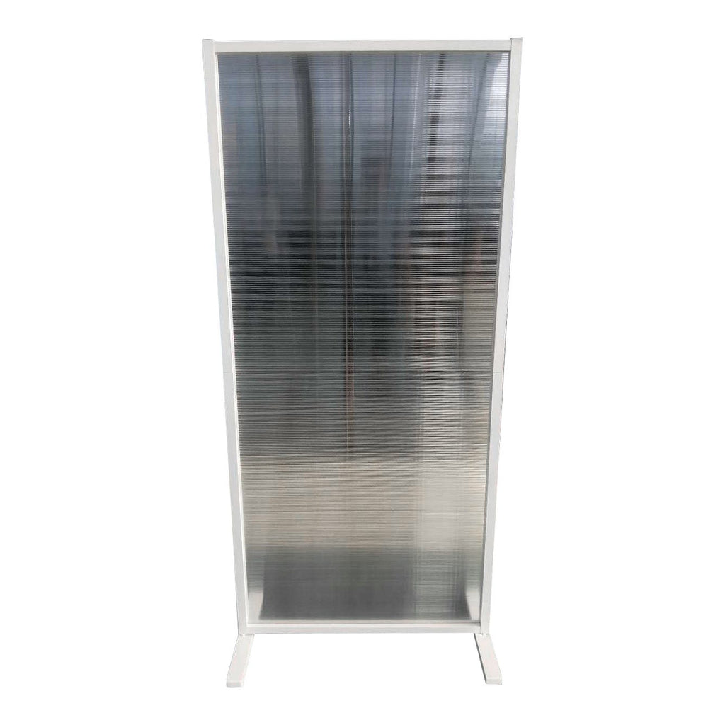 SalonPro 6' x 3' Social Distancing Polycarbonate & Aluminum Privacy Screen Partition Freestanding Divider for COVID-19 Screen Divider SalonPro Equipment Silver (on Backorder)