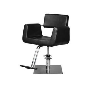 Ikonna Professional Hair Styling Chair Black w/ Square Base