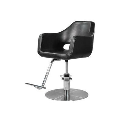 Ikonna Professional Hair Styling Chair Black w/ Coin Base
