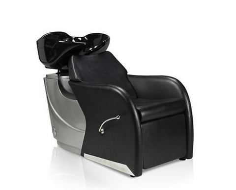 Image of Ikonna Professional Shampoo Unit w/ Black Bed & Bowl Shampoo Unit YCC