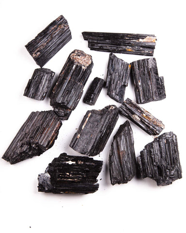 Black Tourmaline Specimens - 20 lb lot