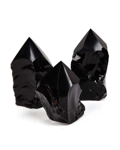 Black Obsidian Top Polished Point