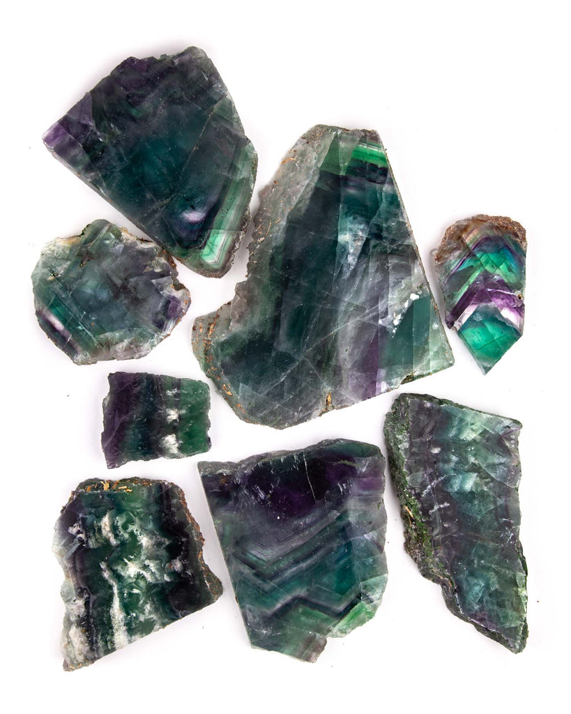 Rainbow Fluorite Slabs - 10 lb lot