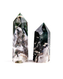 Moss Agate Polished Point