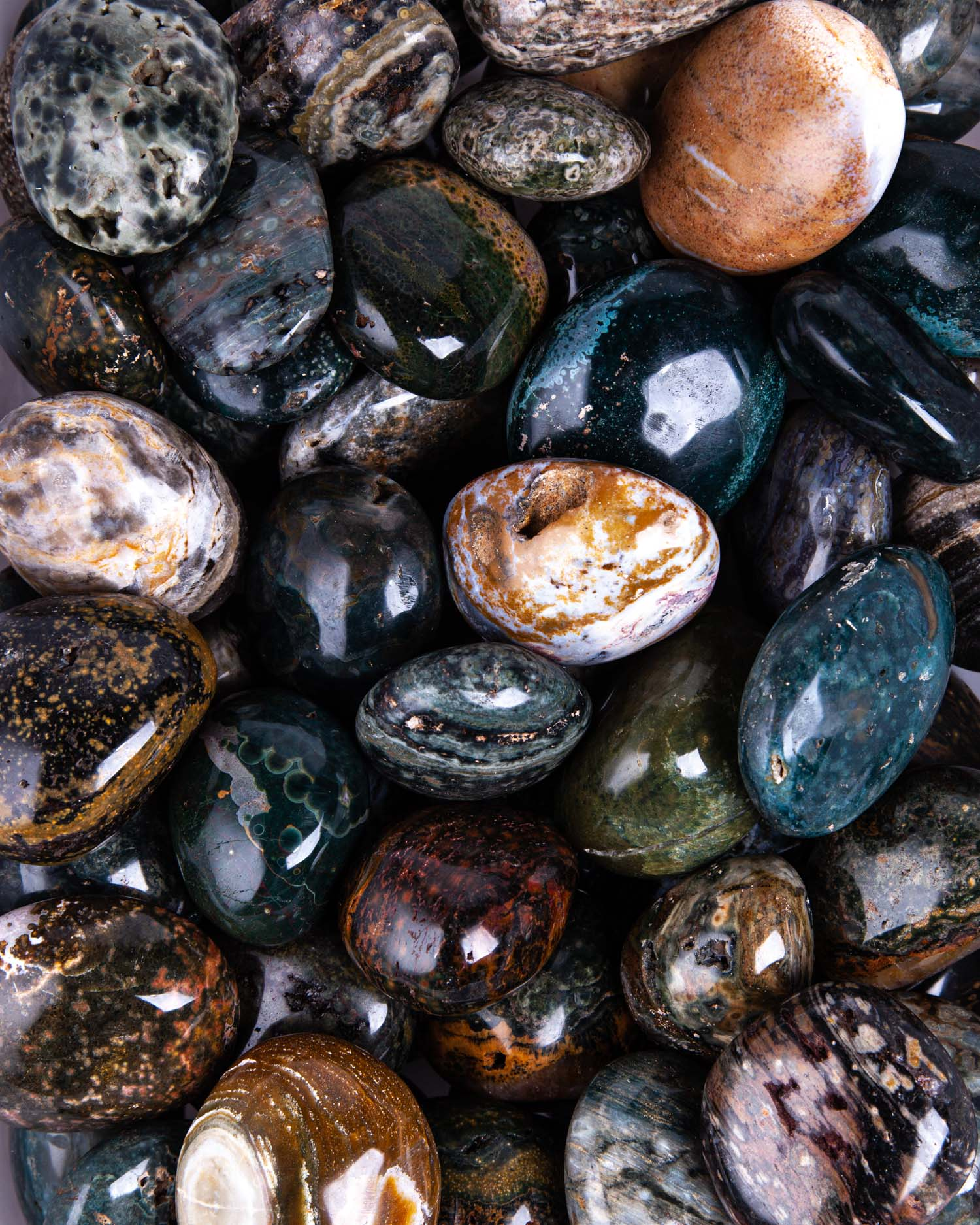 Natural Large Ocean Jasper Crystal TowerPalm Stones pointChakraReikiZenFeng ShuiMeditationSpecial GiftHealing crystal