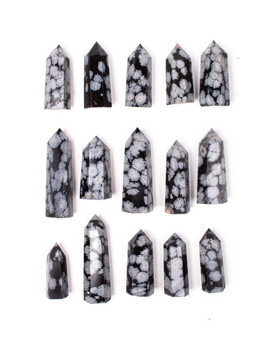Snowflake Obsidian Polished Point
