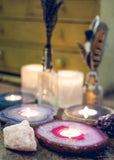 Colorful crystal agate candle holders by SoulMakes