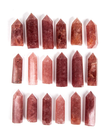 "Red Aventurine ""Strawberry Quartz"" Polished Point"