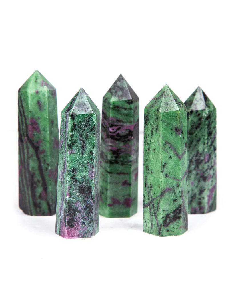 Ruby Zoisite Polished Point