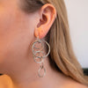 Ayesha Silver Hoop Earrings