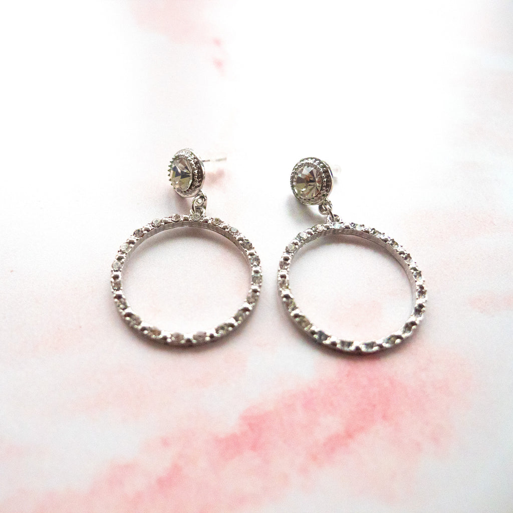 Sian Diamante Hoop Earring