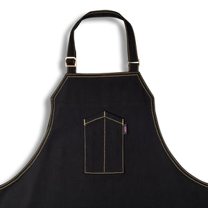 [product title] [apron] black chef apron created by AOSbySOSA