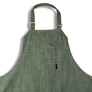 [product title] [apron] green apron created by AOSbySOSA and chef angelo sosa