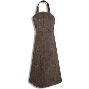 [apron] brown apron full shot [product title] by chef angelo sosa