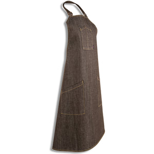 [apron] brown apron angle [product title] by chef angelo sosa
