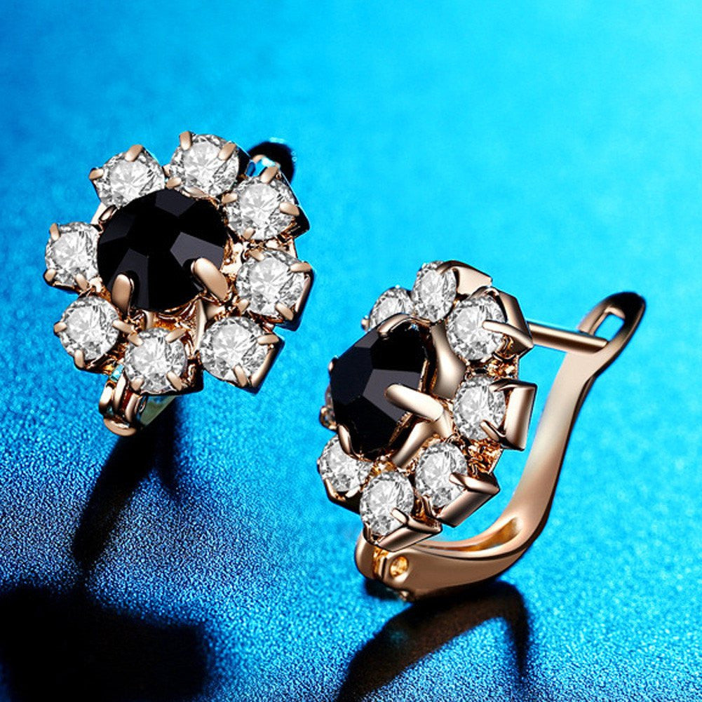 25218573975c8 Buy Gold Plated Black Stone Crystal Stud Earrings at Athena Jewelry Store  for only $3.99