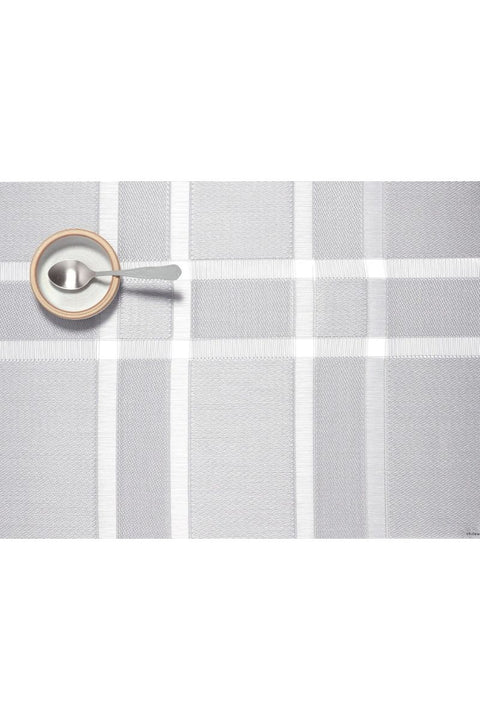 Placemat, Interlace Rectangle Silver