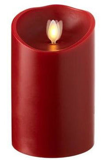 Moving Flame Red Pillar Candle