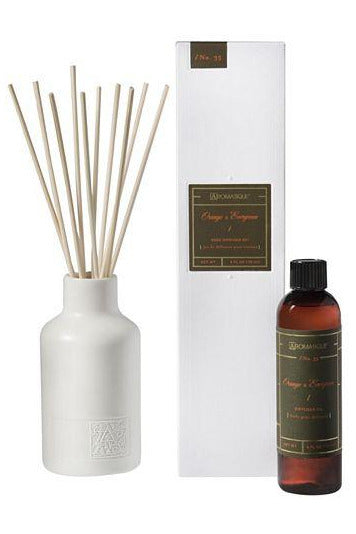 Aromatique Orange & Evergreen Reed Diffuser Set