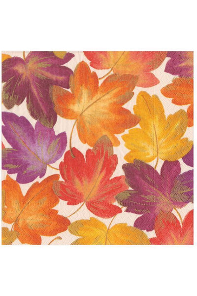 Caspari Fallen Leaves Paper Cocktail Napkins