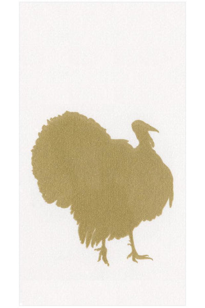 Caspari Turkey Fan Paper Linen Guest Towel Napkins