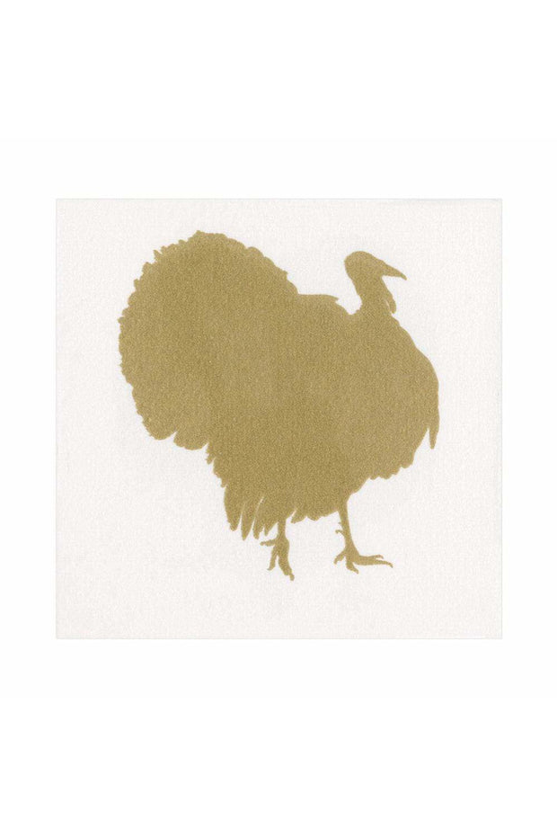 Caspari Turkey Fan Paper Linen Luncheon Napkins