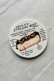 Coaster, Anatomy of an Italian Beef