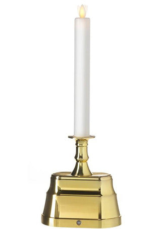 Moving Flame Base Brass Candle
