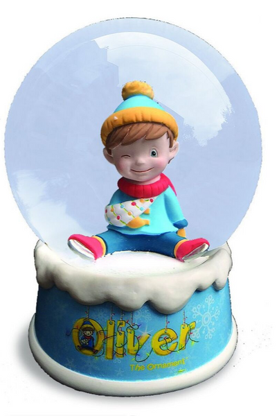 Oliver The Ornament Musical Snow Globe - Oliver