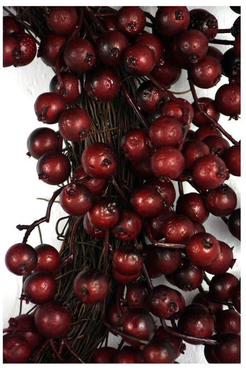 Water Resistant Faux Crabapple Cranberry Wreath