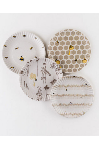 Busy Bees Plate - Set of 4