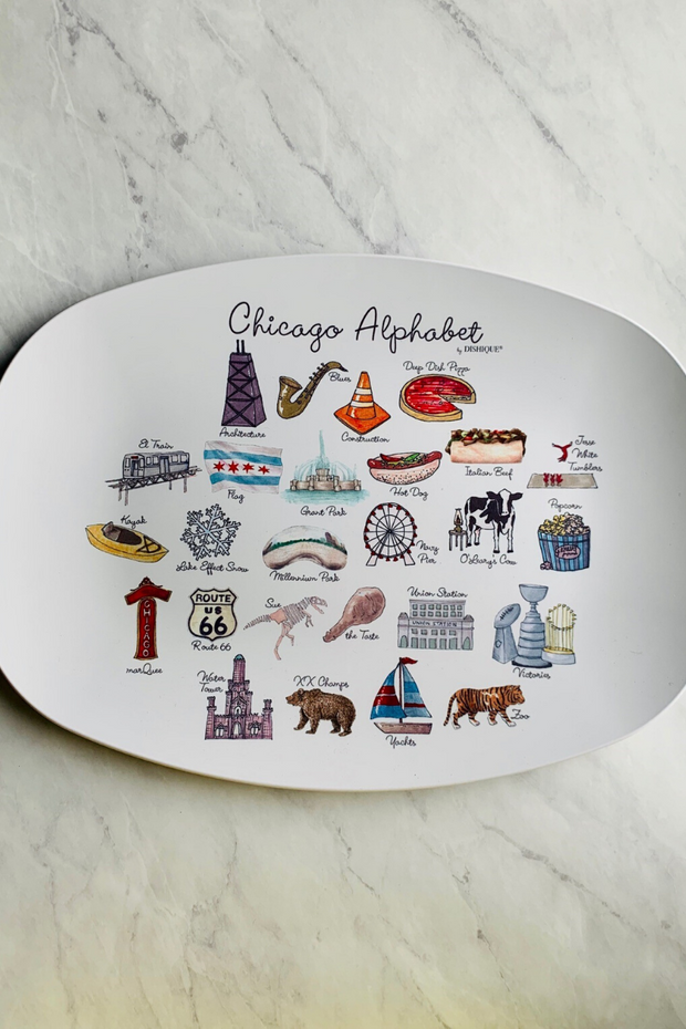 Platter, Chicago Alphabet 14""