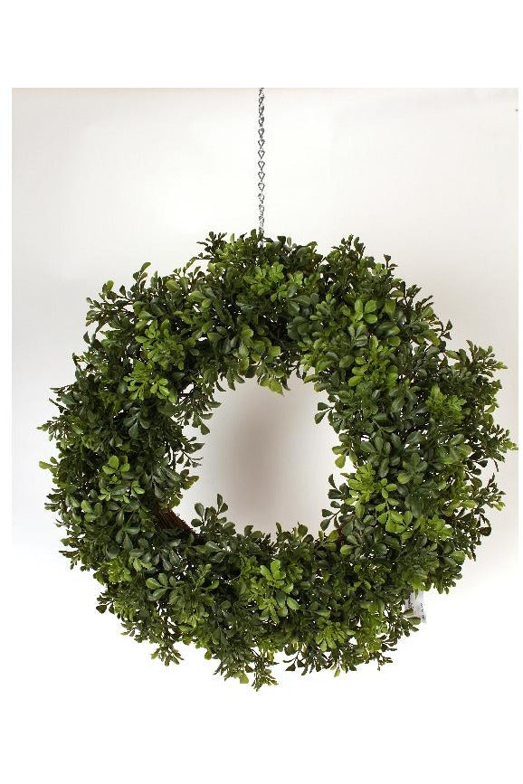 Faux Boxwood Wreath 24""