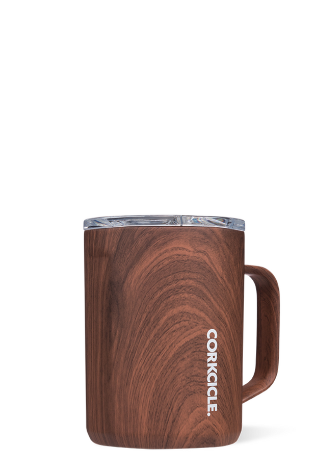 Corkcicle Walnut Wood Coffee Mug 16 oz