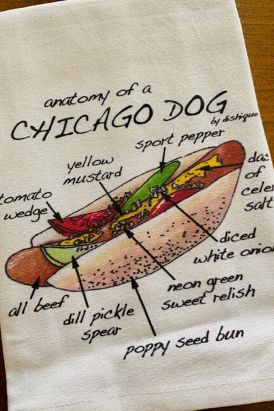 Dish Towel, Anatomy of a Chicago Dog