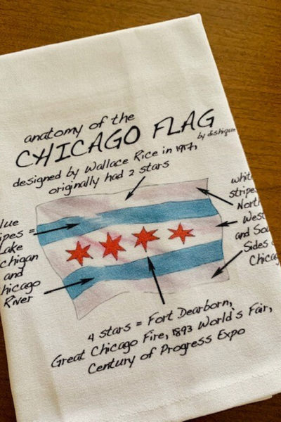 Dish Towel, Anatomy of the Chicago Flag