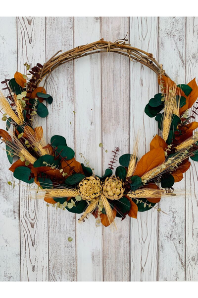 Wreath, Falling Into Autumn 22""
