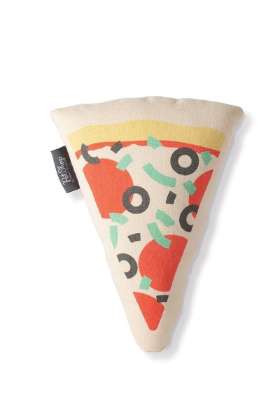 Pizza Slice Canvas Dog Toy