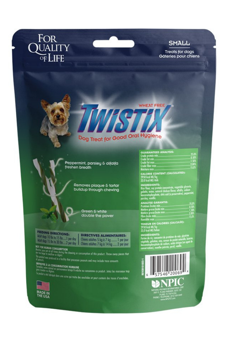 N-Bone Twistix Vanilla Mint Dental Dog Treats