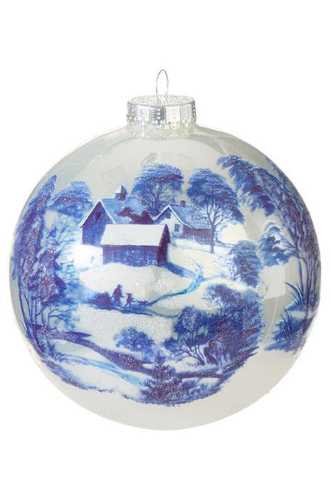 "5"" Toile Ball Ornament"