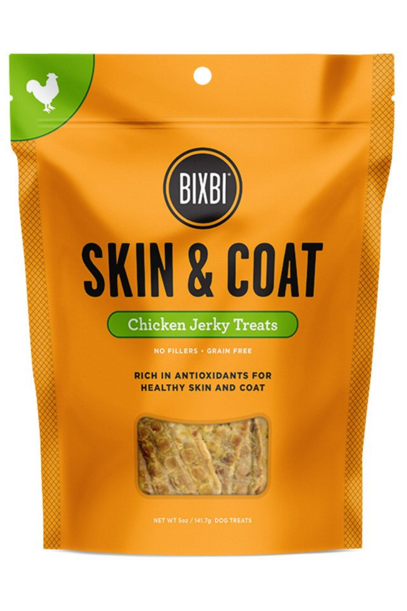 Bixbi Skin and Coat Chicken Breast Jerky Dog Treats