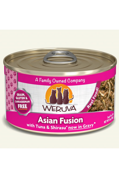 Weruva Asian Fusion With Tuna Rice and Shirasu Canned Cat Food
